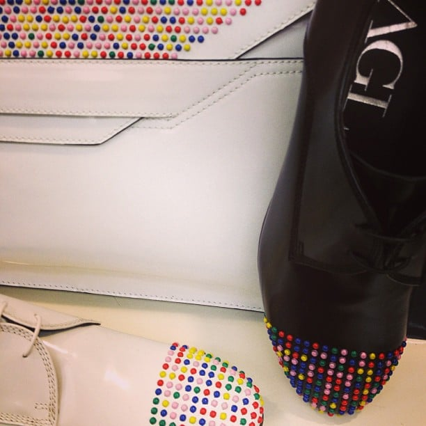 Candy-dot-inspired shoes at Attilio Giusti Leombruni.