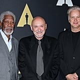 Freeman and Robbins posed with the film's director, Frank Darabont, who later went on to create the Walking Dead TV series.
