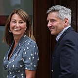 Carole Middleton and Michael Middleton visited St. Mary's Hospital.