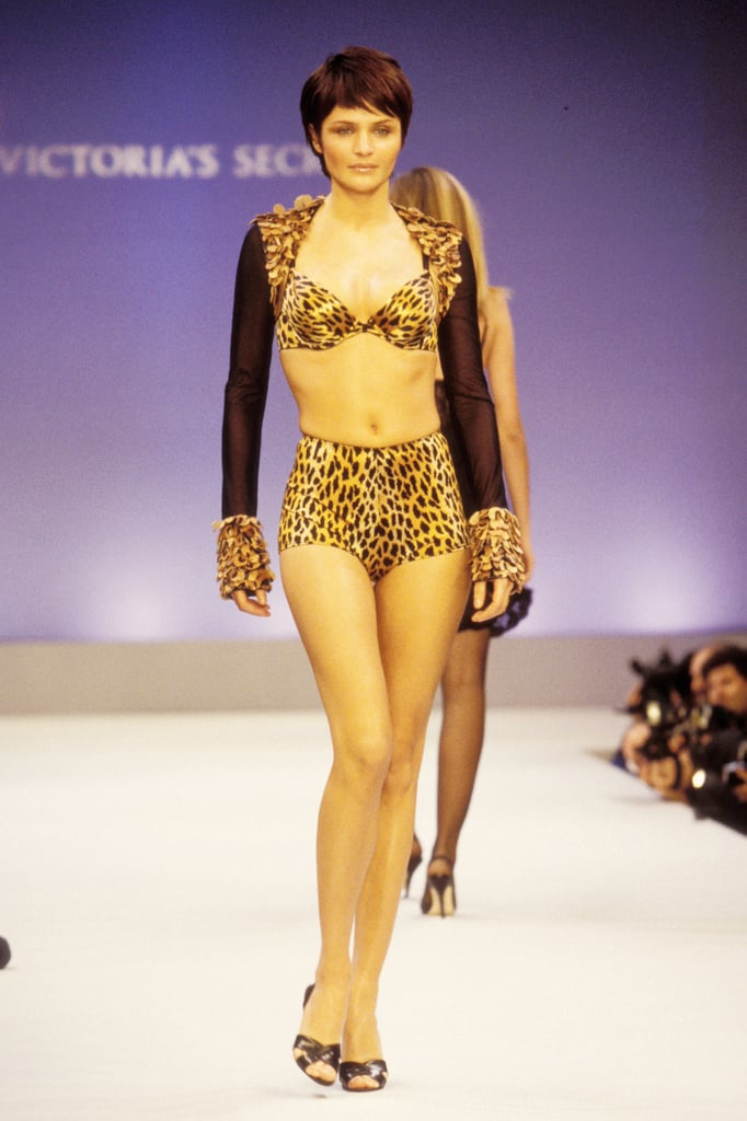 Helena Christensen wore a fierce cheetah-print look in 1997.