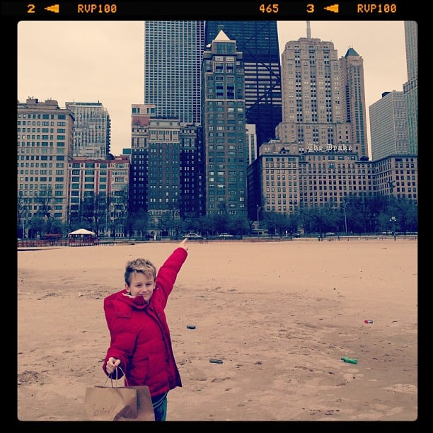 Evan Asher enjoyed some cupcakes — and Chicago sites — during the week. Source: Instagram user jennyannmccarthy