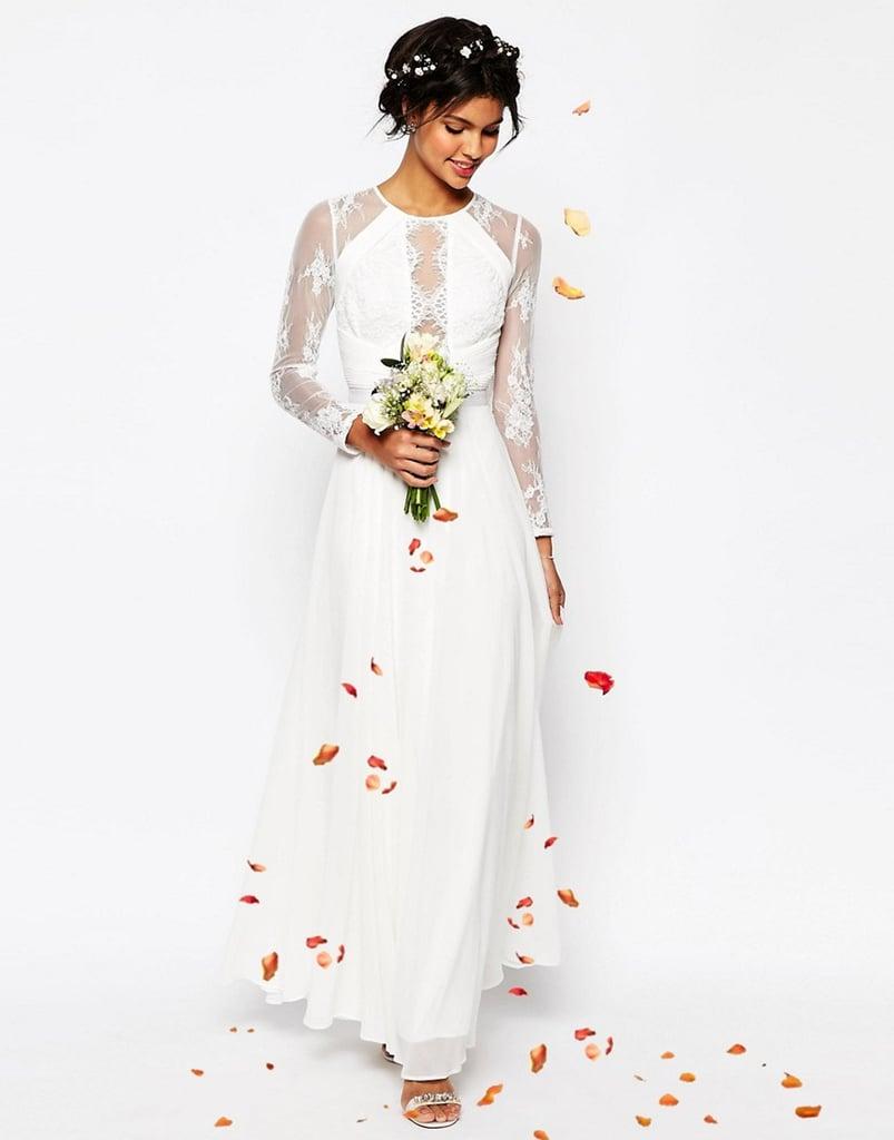 Asos Bridal Lace Panelled Wedding Dress GBP120