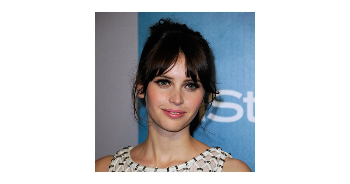 hotlanta hair styles felicity jones hair and makeup at the 2012 golden globes 9813 | Felicity Jones Hair Makeup 2012 Golden Globes InStyle After Party