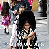 Sarah Jessica Parker walked with the twins in a stroller.