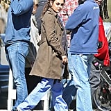 Mila Kunis Gets Serious on Set in Her Scrubs