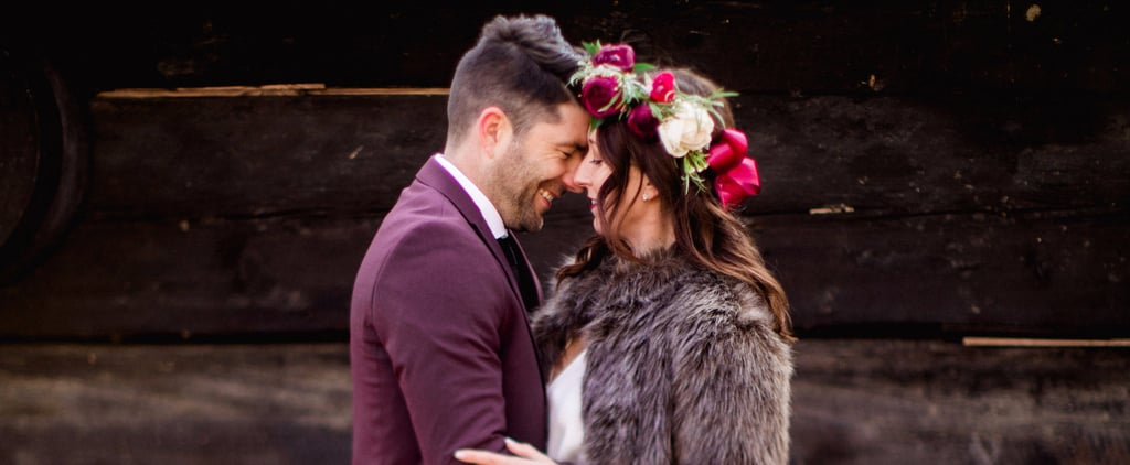 Obsessed With This Holiday Barn Wedding? Just Wait Till You See the Bride's Angelic Look
