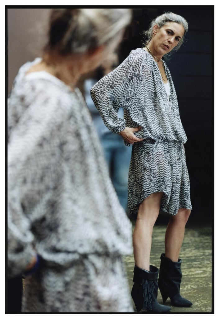 H&M gave its viewers a first look at its collaboration with Marant when it shared this photo of the silk dress ($129) from the collection. Source: Instagram user H&M