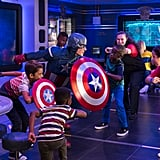 The Marvel Superhero academy is a new addition to the Oceaneer Club that brings the Marvel universe to life for young fans. This interactive space is exclusive to the Disney Wonder and allows kiddos to find their superhero within as beloved characters work with them on teamwork and  problem solving.