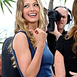 Petra Nemcova smiled for the camera in Cannes.