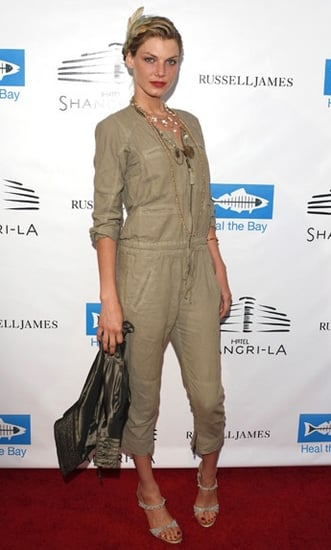 Model Angela Lindvall Wears a Khaki Jumpsuit to the Launch of Russell James's New Book