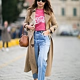 Pull out your vintage tees and dress them up with new shoes.