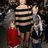 Natalia Vodianova with sons Lucas and Viktor, and daughter Neva.