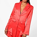 Boohoo Boutique Natalie Frill Hem Detail Blazer Dress