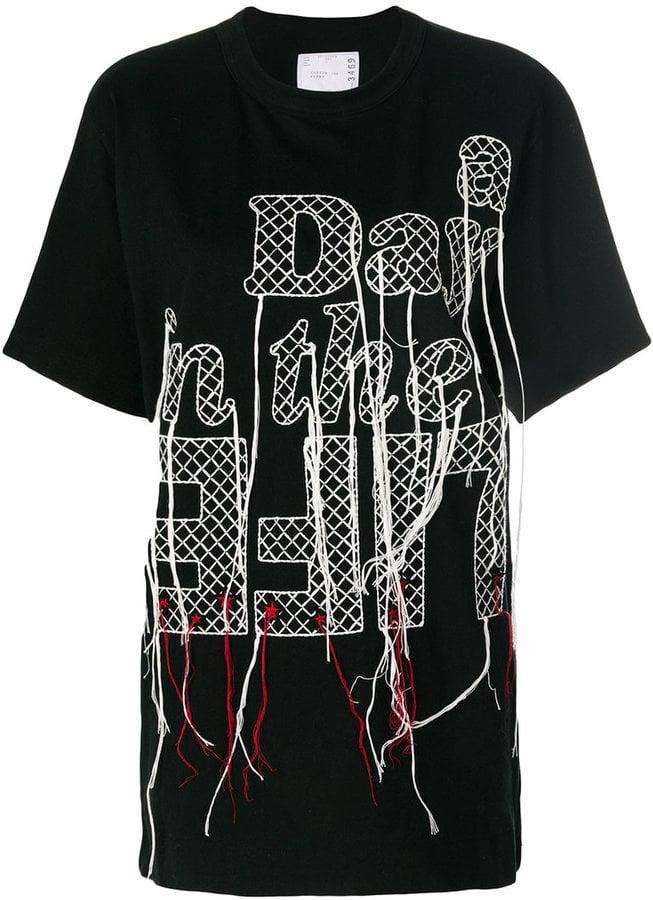Sacai Stitched Slogan T-Shirt