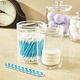 Clear Plastic Cotton Ball and Swab Holder