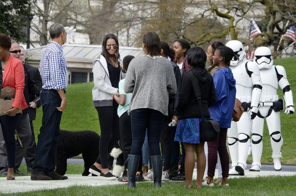 Malia and Sasha Obama Style at White House Egg Roll 2016