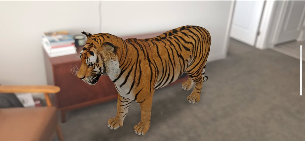 You Can Adjust the Size and Angle of Google's 3D Animal as You Like!