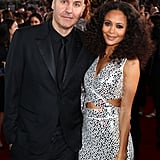 Thandie Newton and Ol Parker at the Golden Globe Awards, 2019