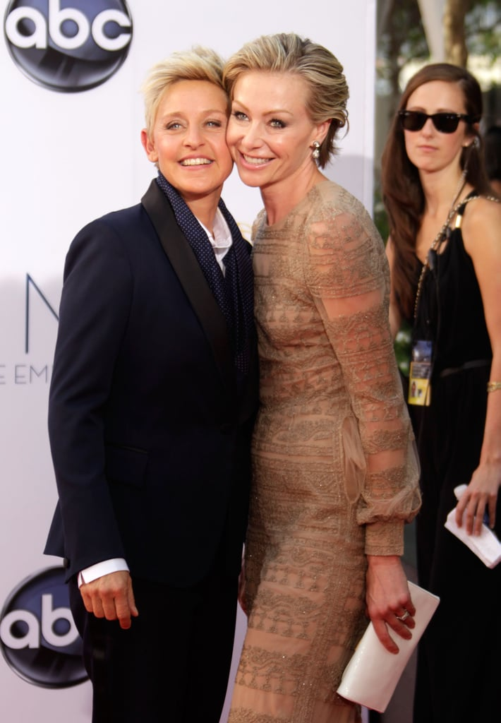 Ellen DeGeneres and Portia De Rossi got close at the Emmys in September.