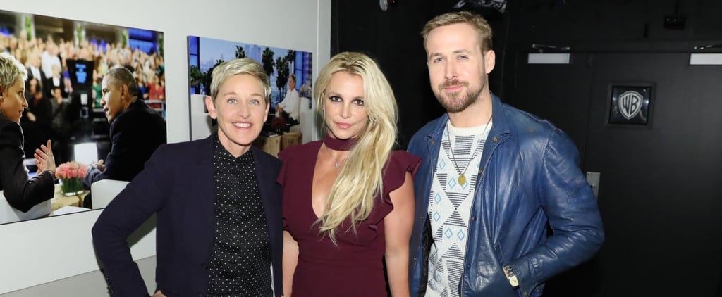 Britney Spears and Ryan Gosling on Ellen 2018
