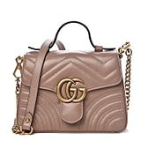 Gucci Calfskin Matelasse Mini GG Marmont Top Handle