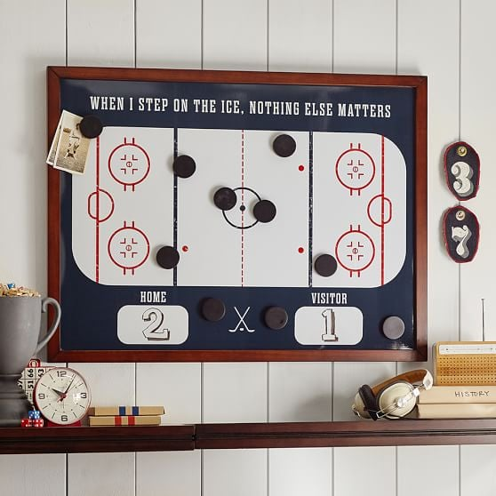 Hockey Magnet Wall Organization
