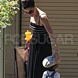 Sandra Bullock with her son Louis Bullock at a party.
