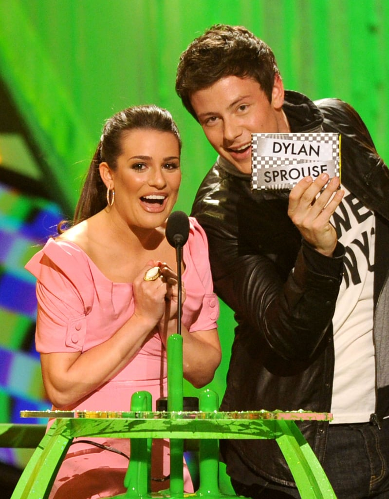 In March 2010, Cory Monteith and Lea Michele presented at the Kids' Choice Awards together.