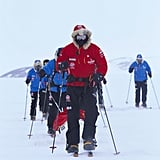 In November 2013, Harry went trekking in the Antarctic for one of his favorite charities, Walking With the Wounded.