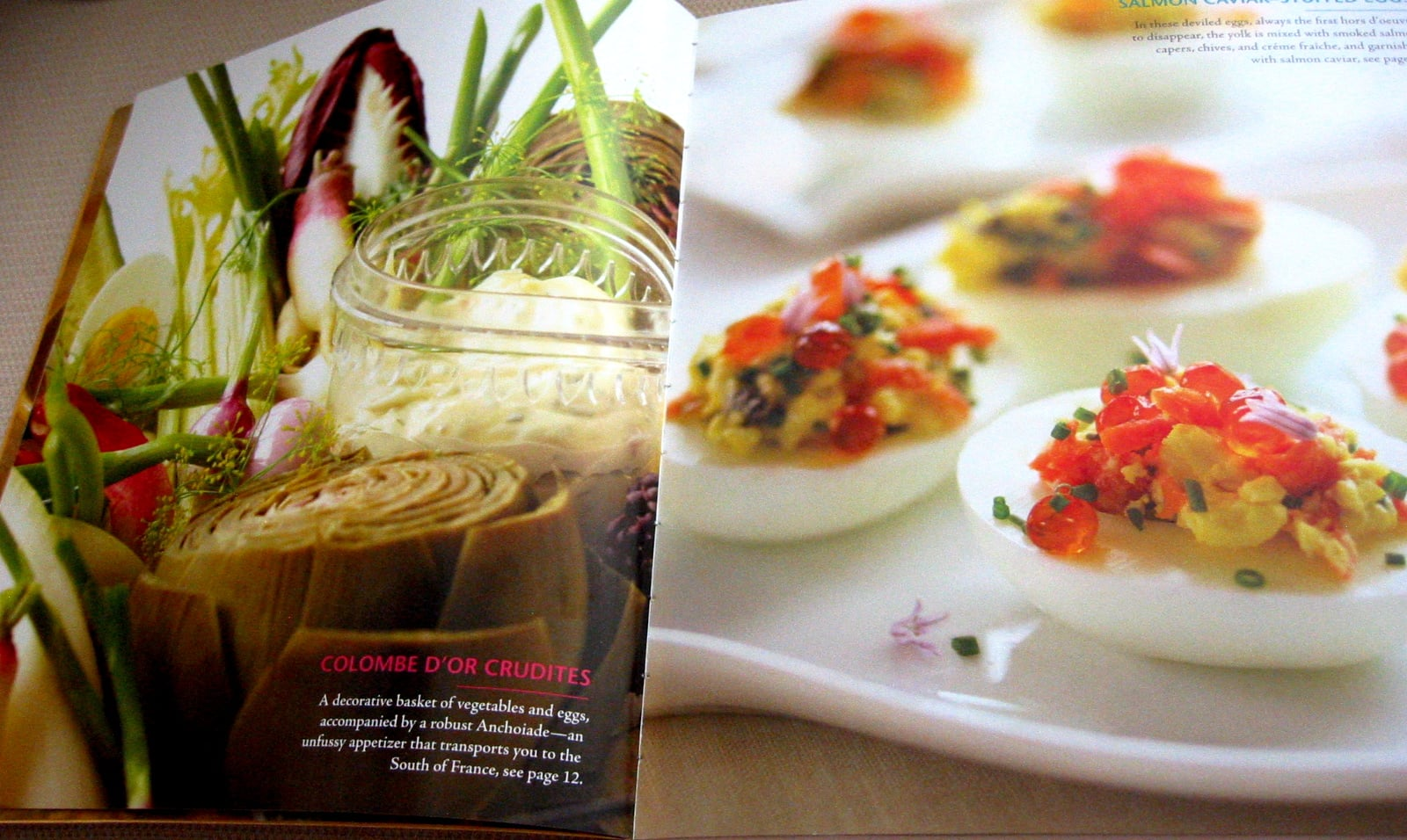 Photographs of selected recipes are in the front of the cookbook.