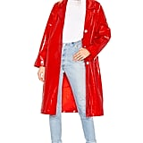 On Parle de Vous Jagger Trench Coat in Rouge