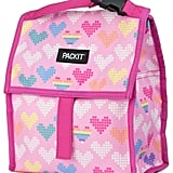 PackIt Freezable Lunch Bag with Zip Closure, Pixel Hearts