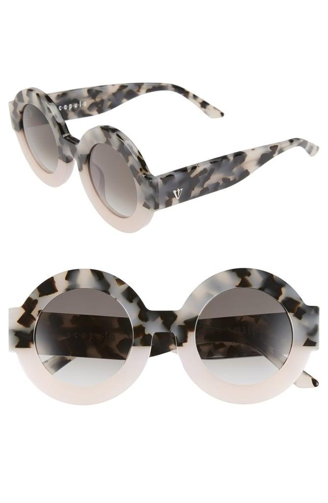 VALLEY 'Scapula' 45mm Round Sunglasses ($200)