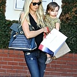 Kimberly Stewart ate lunch with her daughter, Delilah, in LA.
