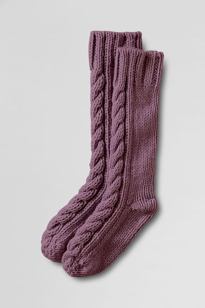 Is there anything more luxurious than something handmade? These hand-knit slipper socks from Land's End ($29) are sturdy enough to replace bedroom slippers, and they're thick enough to keep toes warm on cold mornings.