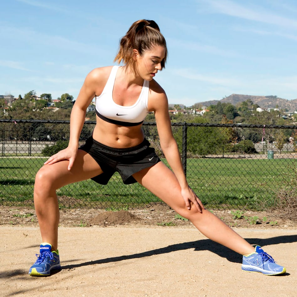 cross jacks | inner thigh workout | gifs | popsugar fitness photo 3