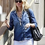 Gwyneth Paltrow wore white jeans.