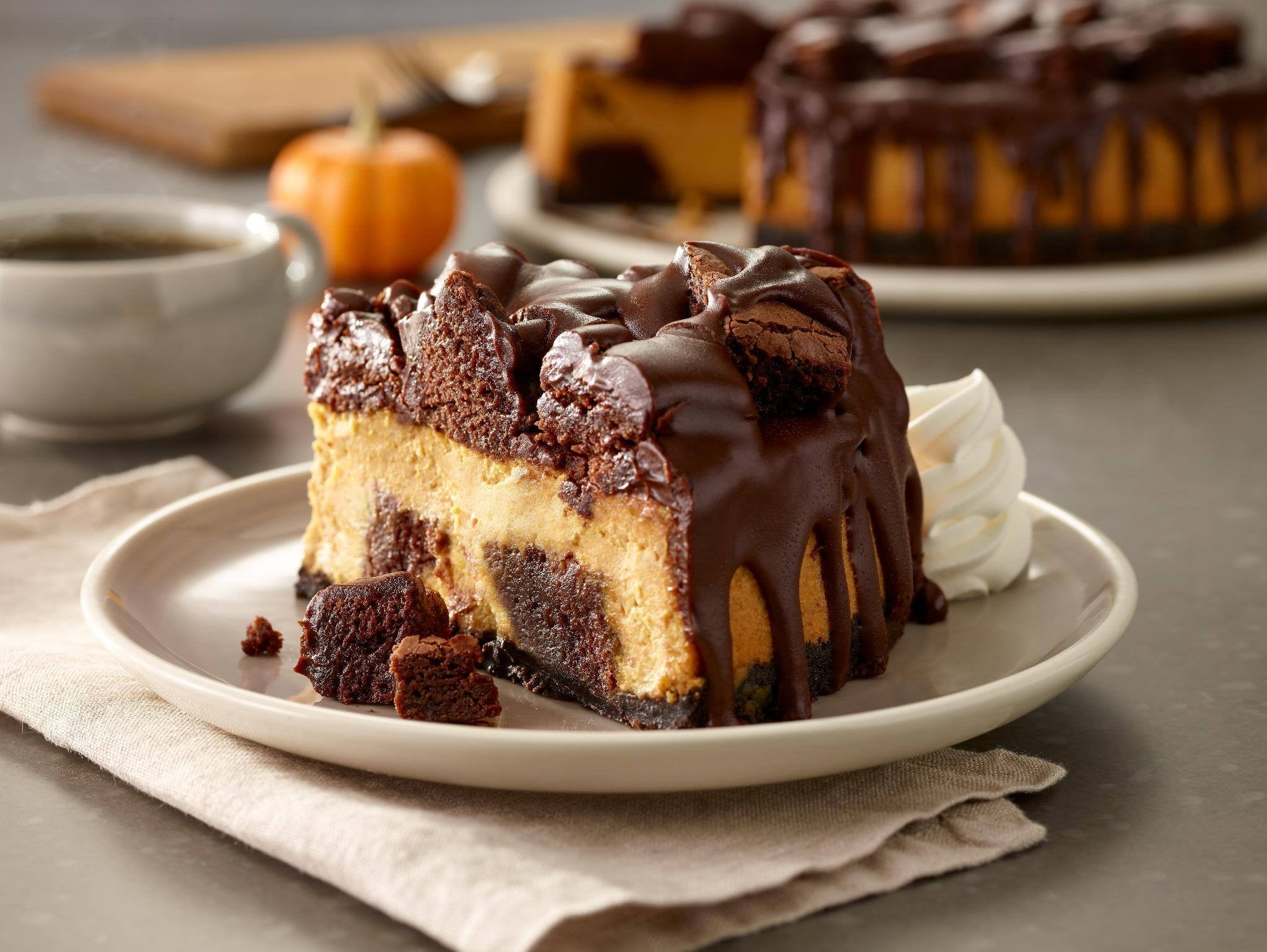 Olive Garden Chocolate Pumpkin Cheesecake | POPSUGAR Food