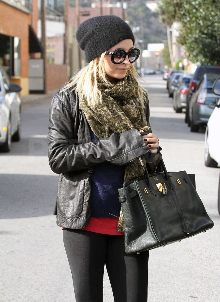 Pictures of Nicole Richie Continuing Her Gym Streak in Style Outside LA