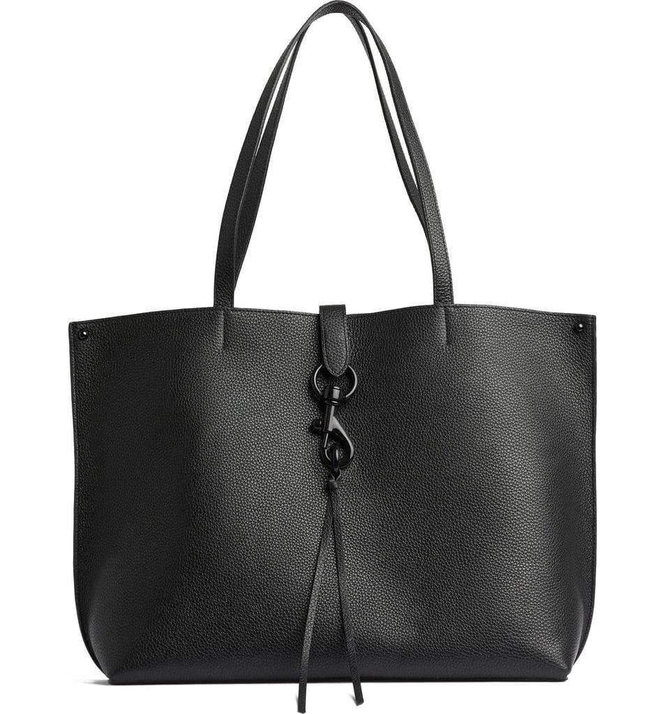 A Staple Black Bag: Rebecca Minkoff Stella Leather Tote