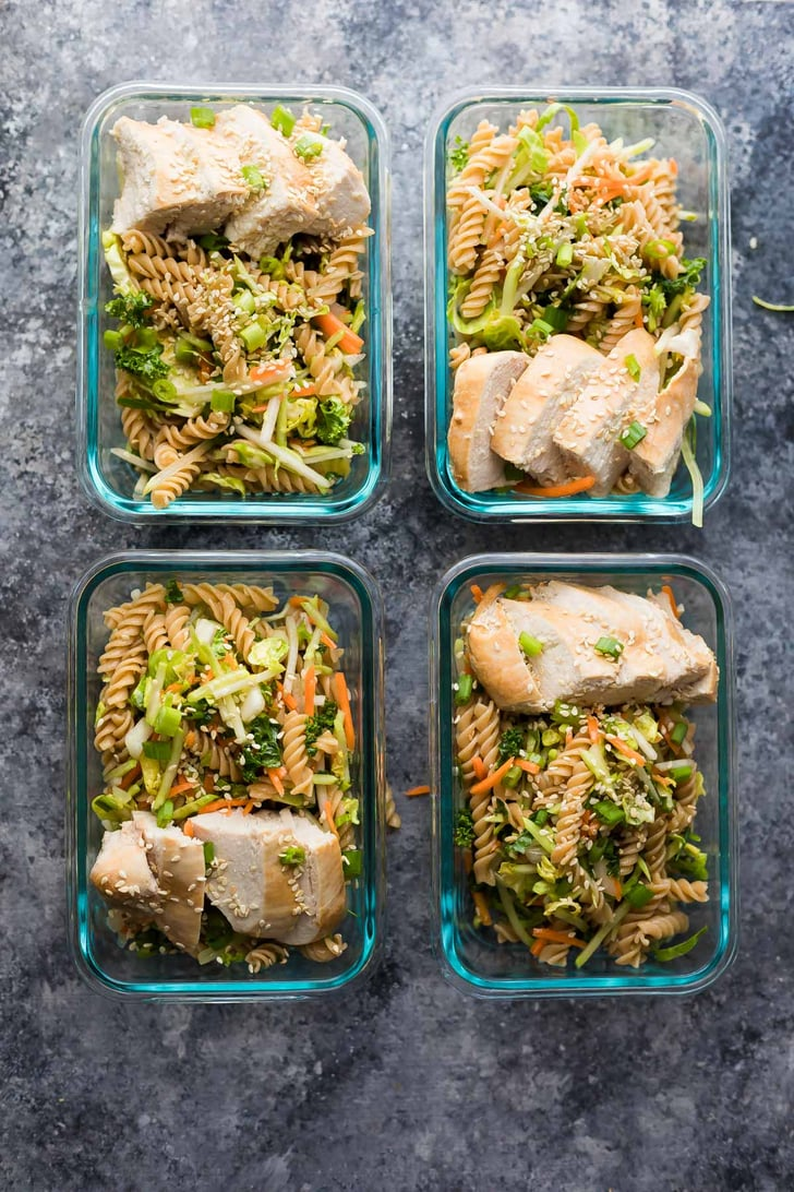 Sesame Chicken Pasta Salad Bowls Easy Lunch Meal Prep