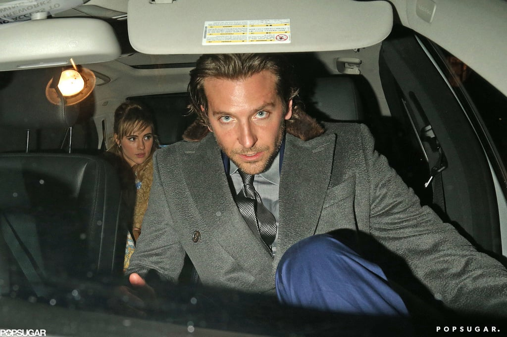 Bradley Cooper and Suki Waterhouse headed to his London hotel.
