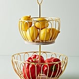 Gold Wire Two-Tier Fruit Basket