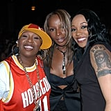 Pictured: Missy Elliot, Mary J. Blige, and Monica