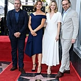 Jennifer Garner and Judy Greer at Hollywood Walk of Fame