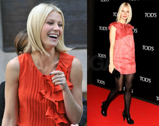 Photos of Gwyneth Paltrow Promoting Tod's in Milan
