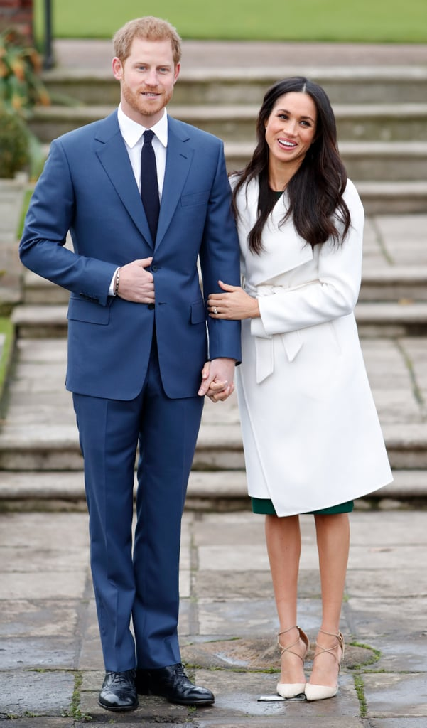 "The first sign of the ""Meghan Markle effect"" was when she debuted this white coat by Canadian label Line. Meghan wore it during a photo call for her engagement to Prince Harry, and it quickly sold out that Monday. Line's website also crashed for five minutes, and even the designer John Muscat himself wasn't expecting the frenzy. He said, ""We had no idea she was going to wear our coat; it was a proud moment for our team. We received an influx of emails, calls, and messages on social media immediately after the photos went public. The coat was from our Fall/Winter 2017 collection and it sold out within minutes."" The designer eventually even renamed the coat to ""The Meghan"" in honor of her engagement. As for the rest of her outfit? Meghan wore a pair of lace-up Aquazzura heels and a green dress from Parosh. And if this wasn't enough, Meghan's 18k gold opal earrings by Birks drove a 50 percent increase in web traffic to the jewelry brand."