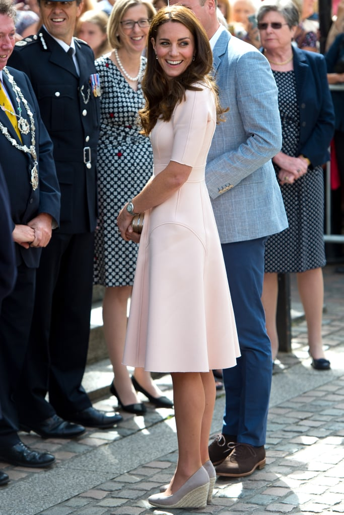 Kate Middleton Wearing Wedges September 2016 Popsugar