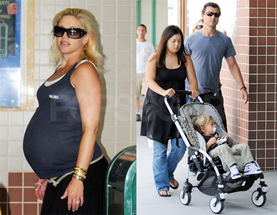 Photos of Very Pregnant Gwen Stefani in LA with Gavin and Kingston