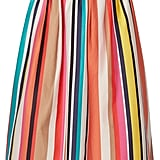 Alice + Olivia Nikola Striped Stretch-Cotton Poplin Midi Skirt